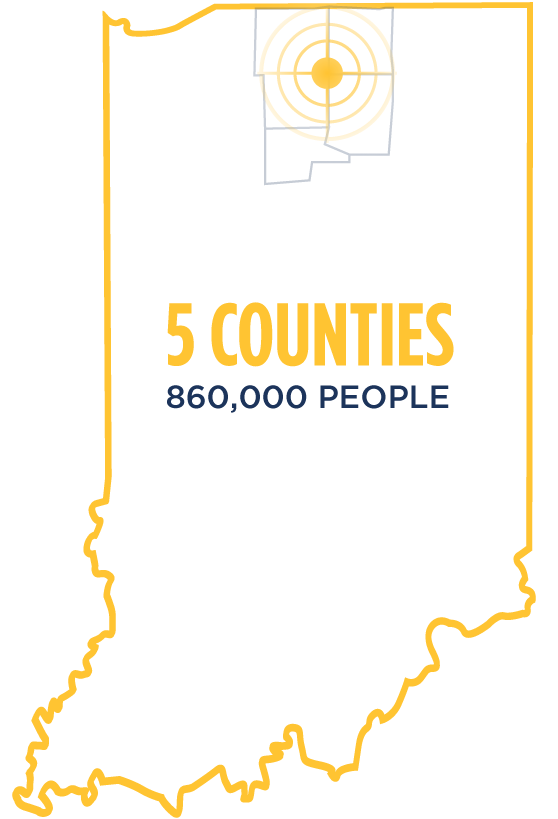 11 Counties - 780,000 People